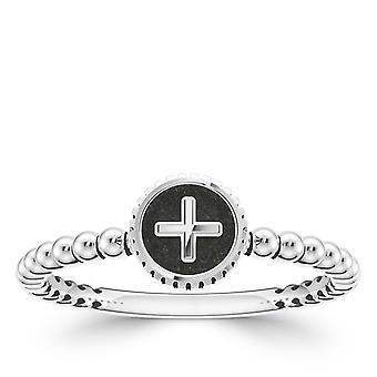 BIXLER Symbol '+' Fashion Ring In Sterling Silver