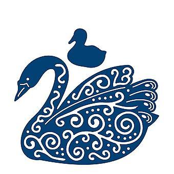 Swan: Tattered Lace Metal Die Paper Card Cutting Stephanie Weightman