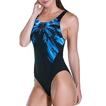 Speedo Womens FreezeFrost Placement Recordbreaker Swimming Swimsuit - Black