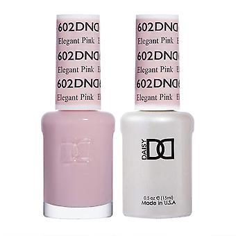 Dnd Duo Gel & Nail Polish Set - Elegant Pink 602 - 2x15ml