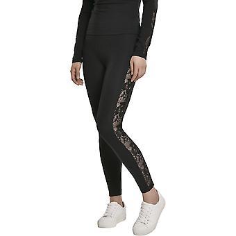 Urban Classics Ladies - LACE Lace Leggings Black