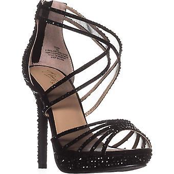 Thalia Sodi Womens Ceara Tissu Peep Toe Formal Strappy Sandals