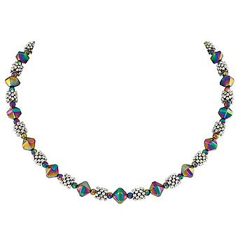 Eternal Collection Apollo Rainbow Hematite Beaded Necklace
