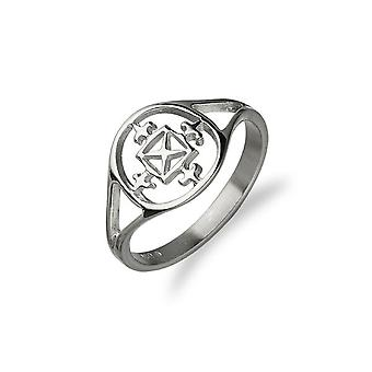 Sterling Argent traditionnel Orkney traditionnel Orkney Traditionnelle St Magnus Cathedral Design Ring