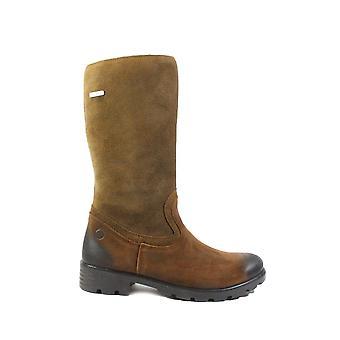 Ricosta Diana 7226200-260 brunt mocka läder flickor vinter långa ben stövlar
