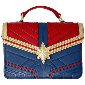 Captain Marvel Costume Faux Leather Crossbody Purse