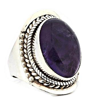 Ring 925 Silber mit Amethyst 55 mm / Ø 17.5 mm (KLE-RI-044-01-(55))