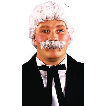 Wig And Moustache For Mark Twain Look