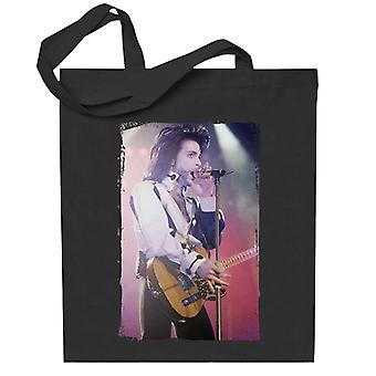 Prince Nude Tour 1991 Performing With Guitar Totebag
