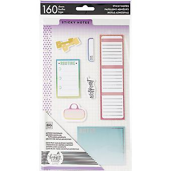 Happy Planner Sticky Notes 160/Pkg-Healthy Hero, 8 Designs/20 Each