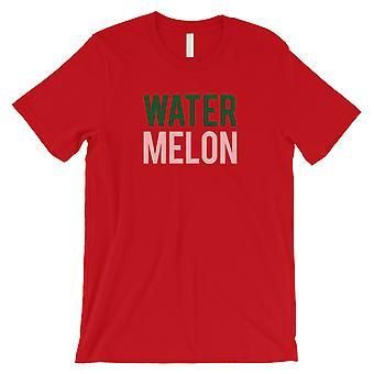 Watermeloen letters mens rood T-shirt