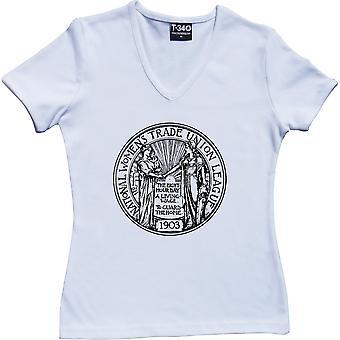Camiseta Women's Trade Union League V-Neck White Women's