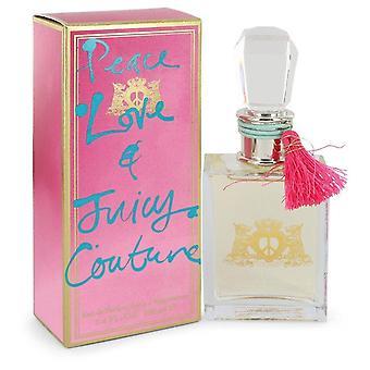 Peace Love & Juicy Couture Eau De Parfum Spray By Juicy Couture   481572 100 ml