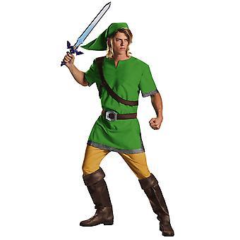 Link The Legend Of Zelda Video Game Nintendo Teen Men Costume 38-40
