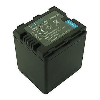 Dot.Foto Panasonic VW-VBN260, de batterij van de vervanging van de VW-VBN260E-K - 7.4V / 2500mAh