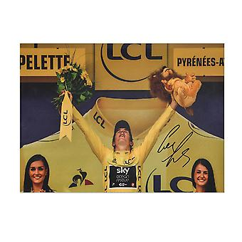 Geraint Thomas Signed Tour De France Photo: 2018 Champion