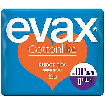 Evax Cottonlike Super Wings Compresses 12 uds