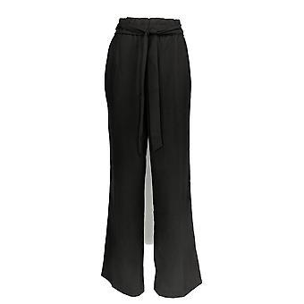 G.I.L.I. Women's Pants Paperbag Waist Wide Leg Black A368155