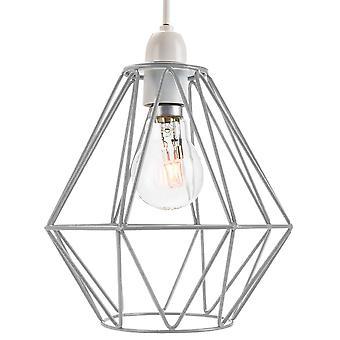 Industrial Basket Cage Designed Matt Grey Metal Ceiling Pendant Light Shade
