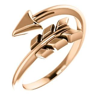 14k Rose Gold Polished Arrow Ring Size 6.5 Jewelry Gifts for Women - 3.0 Grams