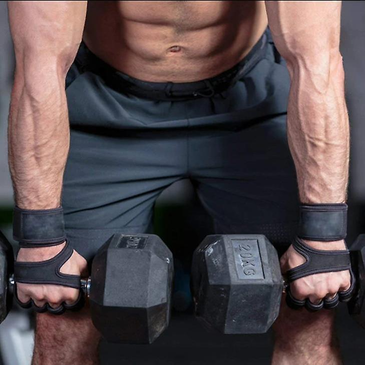 Gym Fitness Gloves Hand Palm Protector With Wrist Wrap