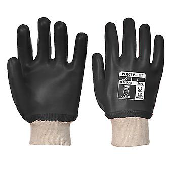Portwest pvc knitwrist workwear gloves a400