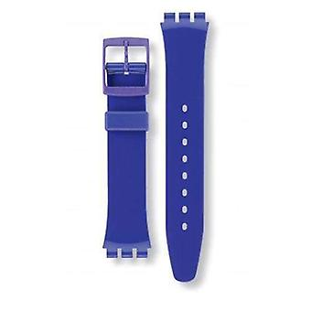 Authentic swatch watch strap classic purple 17mm
