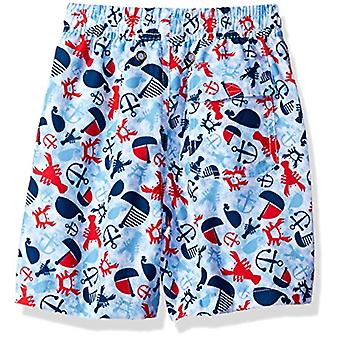 Flap Happy Boys' Little Baby UPF 50 Swim Trunk with Mesh, Lobster Lagoon, Size 3