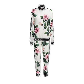 Dolce E Gabbana F9c50tfsrmbha96cset Frauen's Multicolor Viscose Jumpsuit