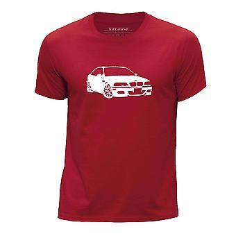 STUFF4 Pojan Pyöreä kaula T-paita/kaavain auton Art / M3 E46/punainen