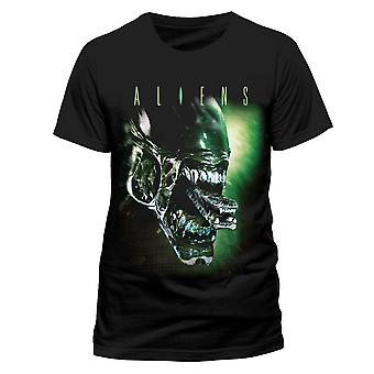 Aliens Unisex Adult Alien Head T-Shirt
