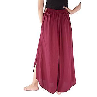 Pantaloni confortabil Plazo pentru femei High Waist Palazzo Pantaloni bumbac matase Comfy Ch ...