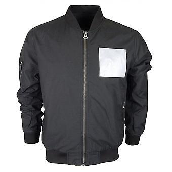 883 Police Maccles Polyester Bomber Black Jacket