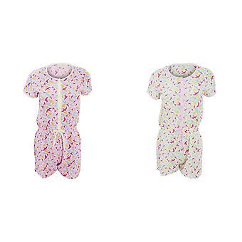 Damen/Damen Kurzarm Schwalbe Muster Pyjama Playsuit