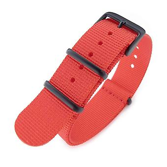 Strapcode n.a.t.o watch strap g10 military watch band nylon strap, red, pvd black, 260mm