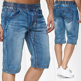 Men's Jeans 5-Pocket Shorts Casual Pants Bermuda expansion collar Summer