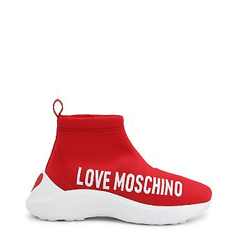 Love Moschino Original Women Fall/Winter Sneakers - Red Color 48790