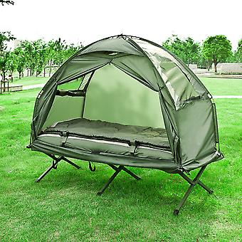 SoBuy OGS32-GR, 1 Person Foldable Camping Tend with Bed, Air Mattress, Sleeping Bag e Carrying Bag, Camping Bed