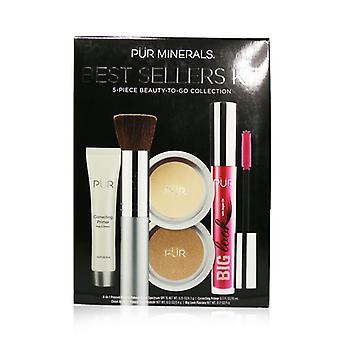 Pur (purminerals) Best Sellers Kit (5 Piece Beauty To Go Collection) (1x Primer 1x Powder 1x Bronzer 1x Mascara 1x Brush) - # Tan - 5pcs