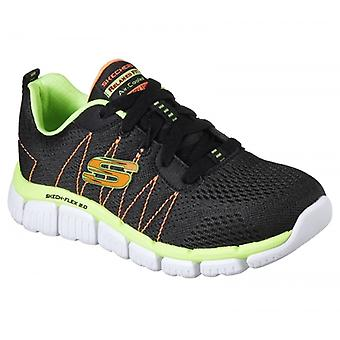 Skechers Skech-flex 2.0 Quick Pick Boys Trainers Black/lime