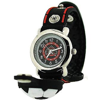 Sunderland AFC Analogue Red/Black Silicone Strap Boys Football Watch GA3279