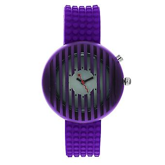 Kool Time Ladies Asteroid Starlight White Dial, Backlight & Purple Silicone Strap Fashion Watch KT20