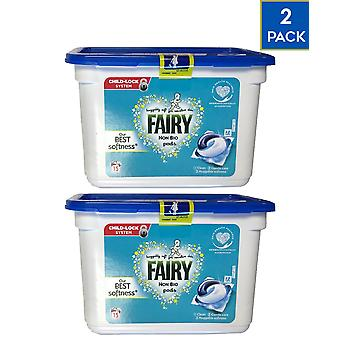 2 x Fairy Niet Bio Sensitive Skin Laundry Caps 15 Wast Whitener Stain Remover