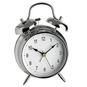 TFA herätyskello kvartsi kellon signaali kromattu kotelo