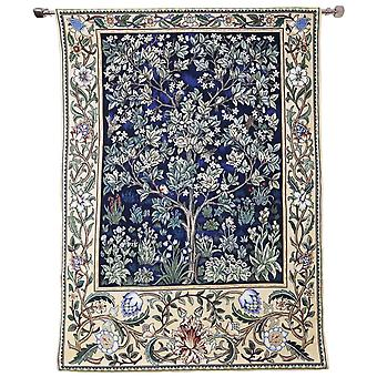 Wall hanging-morris tree of life blue | home decor, wall tapestry - available in two sizes