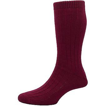 Pantherella Packington Merino Wolle Socken - Wein