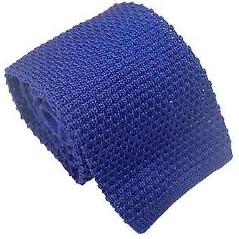 Michelsons af London silke strikkede slips - blå