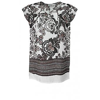 Masai Clothing Ea Sand Floral Print Top