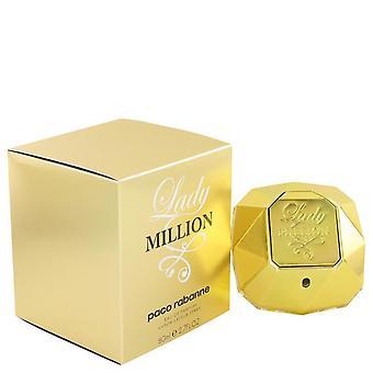Lady Million Eau De Parfum Spray By Paco Rabanne 2.7 oz Eau De Parfum Spray