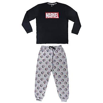 Men's Marvel Captain America Cuffed Pyjama Set